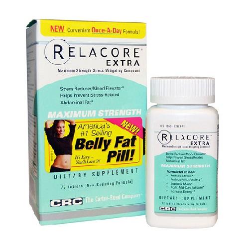 Relacore Extra Maximum Strength Mitigating compound 72 viên - Giảm sản sinh mỡ vùng bụng và ổn định tinh thần